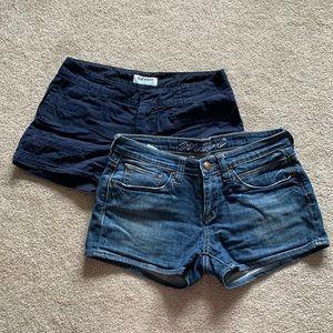 Mavi Jean & Old Navy Shorts, Bundle of 2